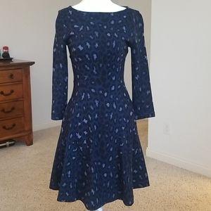 Kate Spade Blue Leopard Dress